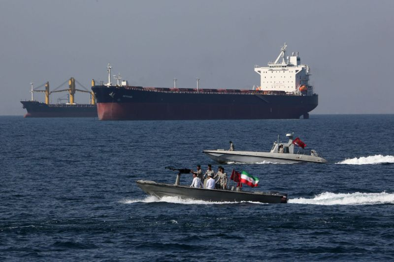 Iranian forces take part in National Persian Gulf Day in the Strait of Hormuz on April 30, 2019. Iran has repeatedly threatened to close the crucial waterway as a riposte to U.S. pressure.