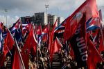 Cubans attend a May Day rally in Havana on May 1.