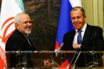 Iranian Minister of Foreign Affairs Mohammad Javad Zarif and Russian Foreign Minister Sergei Lavrov meet in Moscow on May 8.