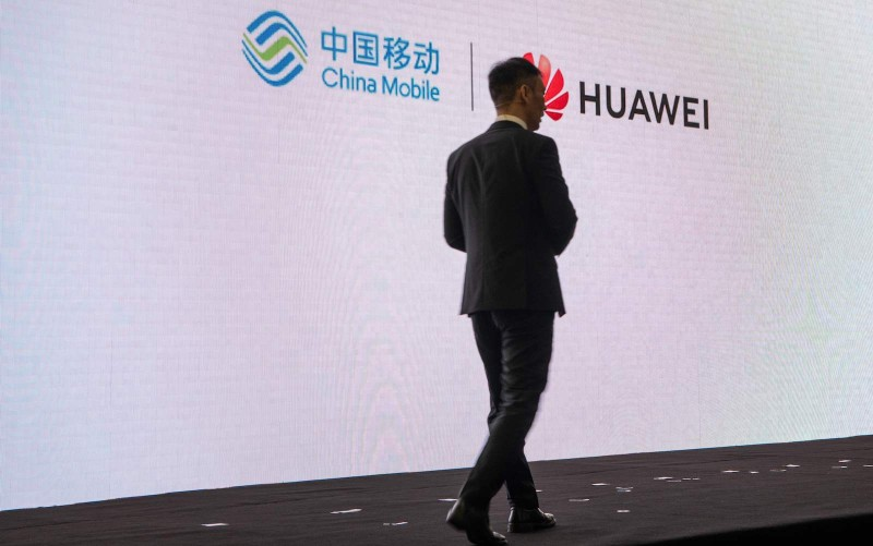 David Wang, executive director of Huawei's board, at the Huawei Beijing Executive Briefing Centre in Beijing on May 15, 2019. (