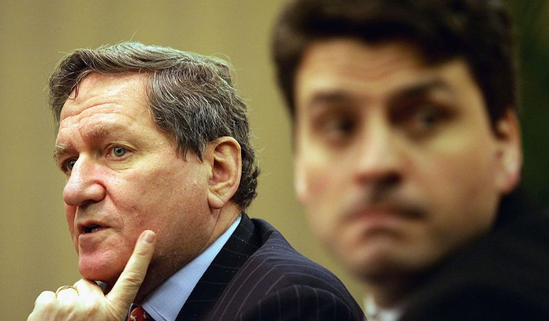 Richard Holbrooke at the Joint Summit on Business and AIDS in China on March 18, 2005 in Beijing, China.