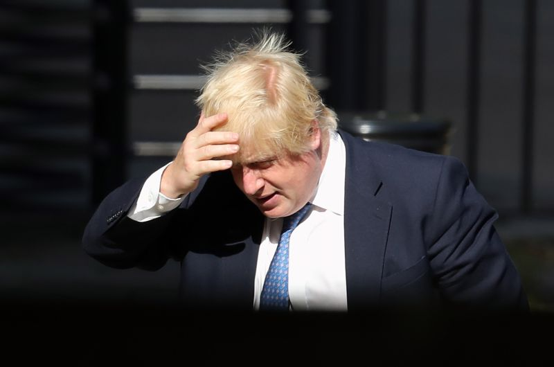Former Foreign Secretary Boris Johnson arrives at the Foreign Office on July 15, 2016 in London.