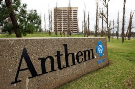 The Anthem Blue Cross headquarters in Woodland Hills, California, is seen on Feb. 9, 2010.