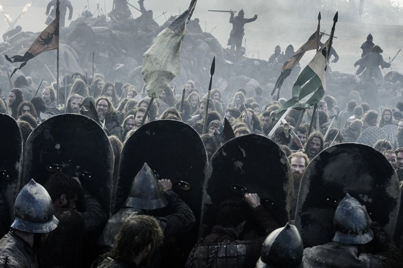 A battle scene in HBO's Game of Thrones.