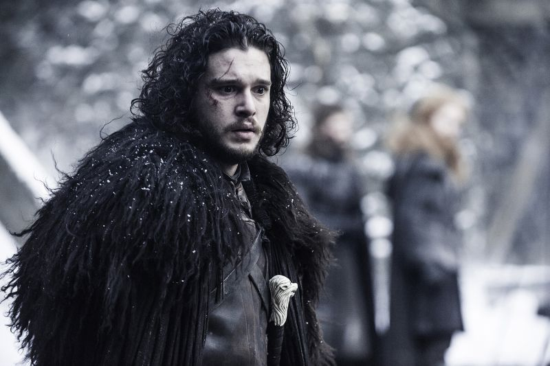 Jon Snow in Game of Thrones.