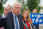 Bernie Sanders speaks during a news conference to urge Congress not to fast-track the Trans-Pacific Partnership on June 3, 2015.
