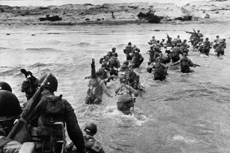 U.S. troops land in Normandy, France, on D-Day, June 6, 1944.