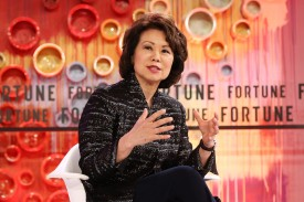U.S. Secretary of Transportation Elaine Chao speaks at the Fortune Most Powerful Women Summit in Laguna Niguel, California, on Oct. 2, 2018.