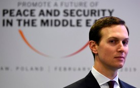 White House Senior Advisor Jared Kushner attends a conference on peace and security in the Middle East in February.