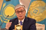 Kazakh president-elect Kassym-Jomart Tokayev speaks to the media during a press conference at Ak Orda Presidential Palace in Nur-Sultan on June 10, 2019.