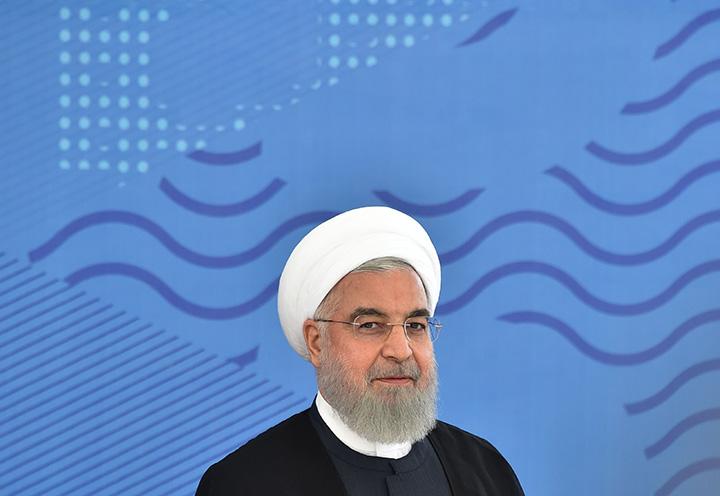Iran's President Hassan Rouhani attends the Shanghai Cooperation Organization (SCO) summit in Bishkek on June 14.