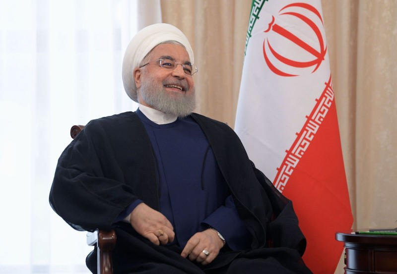 Hassan Rouhani attends the Shanghai Cooperation Organisation summit in Bishkek, Kyrgyzstan, on June 14.