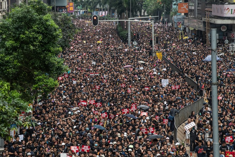 Protesters demonstrate bill on June 16, 2019 in Hong Kong.