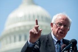 U.S. Sen. Bernie Sanders speaks at a press conference in Washington on June 24.