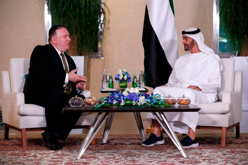 U.S. Secretary of State Mike Pompeo meets with Mohamed ben Zayed Al-Nahyan, Crown Prince of Abu Dhabi and Deputy Supreme Commander of the UAE Armed Forces, in Abu Dhabi on June 24.