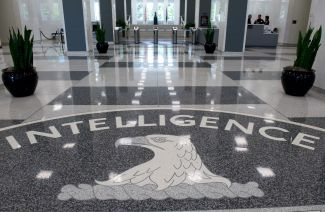 The Central Intelligence Agency (CIA) logo is displayed in the lobby of CIA Headquarters in Langley, Virginia, on August 14, 2008.