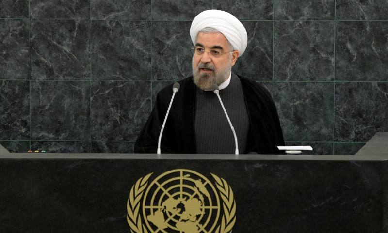 Iranian President Hassan Rouhani addresses a High-Level Meeting on Nuclear Disarmament during the 68th United Nations General Assembly at U.N. headquarters in New York City on Sept. 26, 2013.