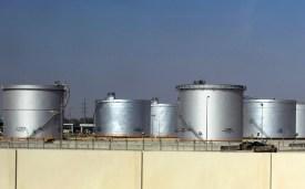 Tanks at the Saudi Aramco oil facility in Dammam, Saudi Arabia, on Nov. 23, 2007.