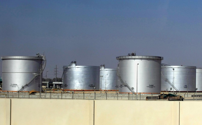 Tanks at the Saudi Aramco oil facility in Dammam, Saudi Arabia, on Nov. 23, 2007.