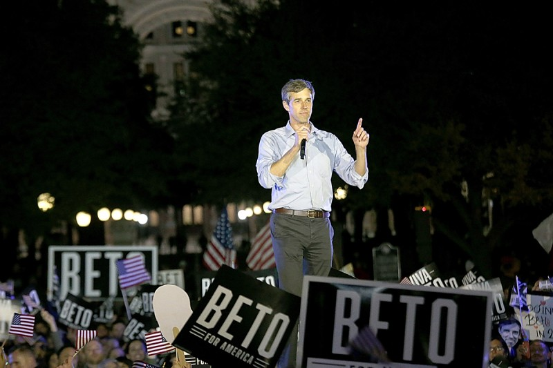 Beto O'Rourke kicks off his campaign for president in Austin, Texas, on March 30.