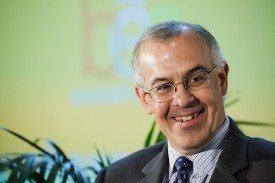 New York Times columnist David Brooks speaking at the Book Expo America in New York.