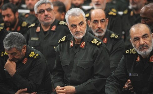 Iranian Quds Force commander Qassem Soleimani attends Iranian supreme leader Ayatollah Ali Khamenei's meeting with the Islamic Revolution Guards Corps (IRGC) in Tehran, Iran on Sept. 18, 2016.