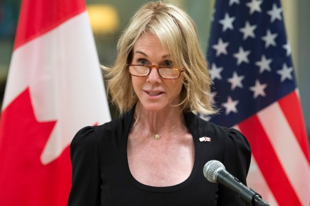 U.S. Ambassador to Canada Kelly Knight Craft delivers a statement at Rideau Hall in Ottawa on Oct. 23, 2017.