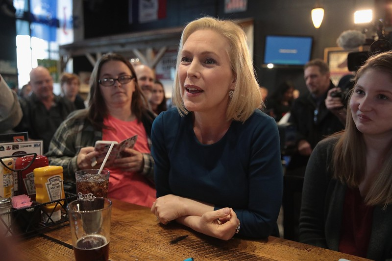 Kirsten Gillibrand makes a campaign stop in Cedar Rapids, Iowa, on Feb. 18.