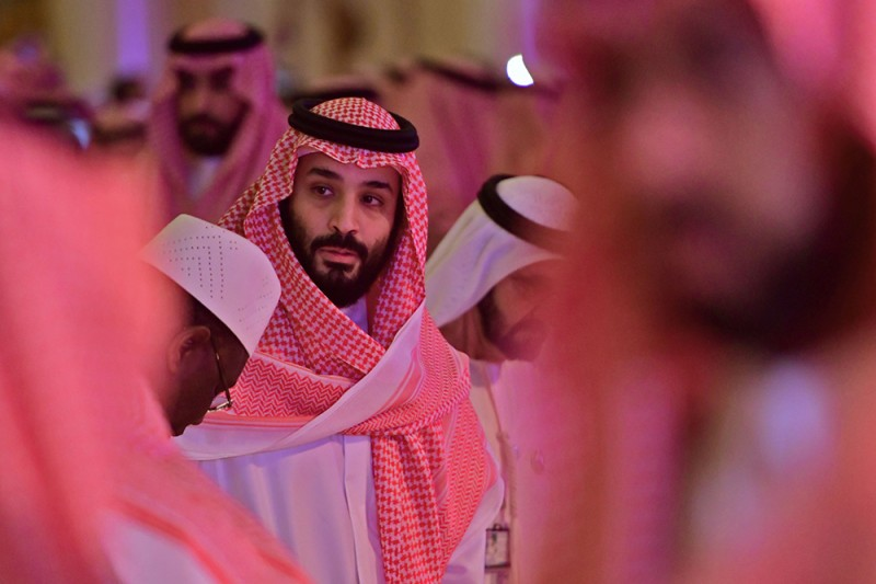 Saudi Crown Prince Mohammed bin Salman arrives at the Future Investment Initiative conference in Riyadh, Saudi Arabia, on Oct. 24, 2018.