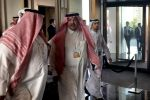 Saudi Minister of State Mohammed al-Shaikh arrives for the second day of a U.S.-sponsored Middle East economic conference in Bahrain on June 26.
