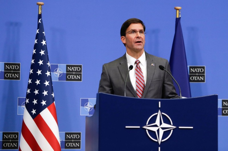 Acting U.S. Secretary of Defence Mark Esper in Brussels on June 27.