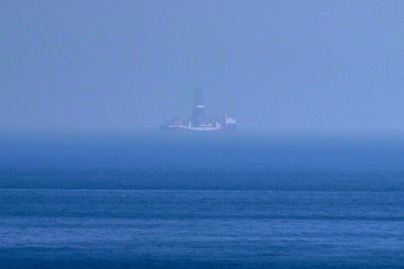 Turkey's Yavuz drillship, seen from shore of the self-proclaimed Turkish Republic of Northern Cyprus, is one of several operating in Cypriot waters, sparking a rebuke from the European Union.
