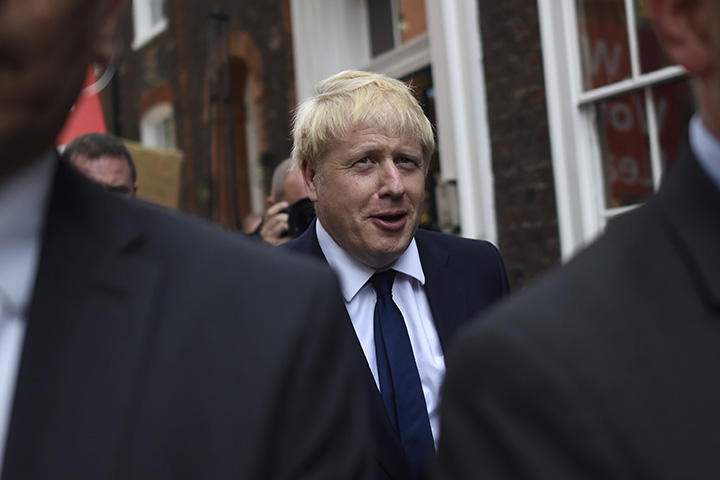 Boris Johnson, the next British prime minister, leaves his office on July 22 in London.