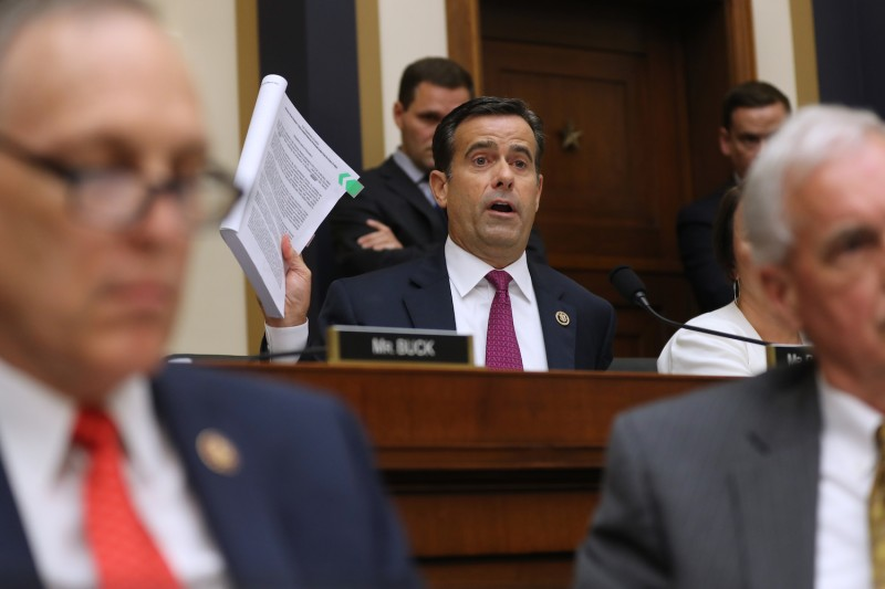 Rep. John Ratcliffe (R-TX) questions former Special Counsel Robert Mueller as he testifies before the House Judiciary Committee about his report on Russian interference in the 2016 presidential election in the Rayburn House Office Building July 24, 2019 in Washington, DC.