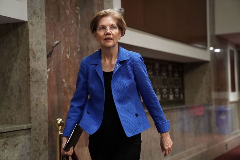 U.S. Sen. Elizabeth Warren arrives at a confirmation hearing before the Senate Armed Services Committee on Capitol Hill in Washington on March 1, 2018.