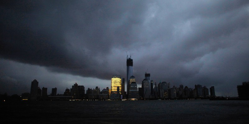 Lower Manhattan in New York City on Oct. 30, 2012, after Hurricane Sandy. Eduardo Munoz/Reuters