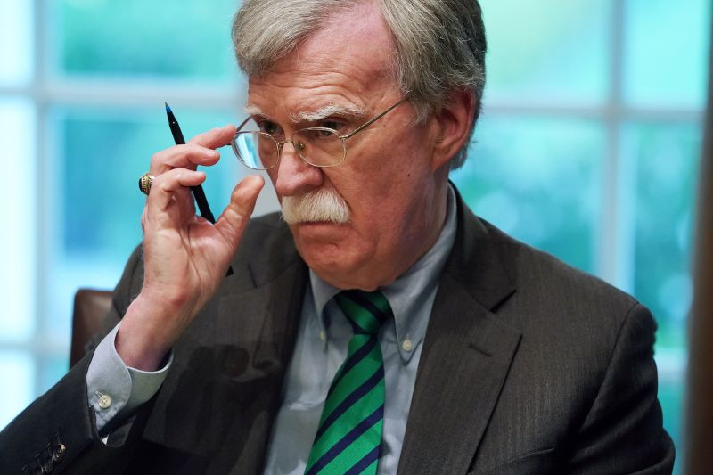 U.S. National Security Advisor John Bolton attends a meeting in the Cabinet Room of the White House in Washington on April 2.