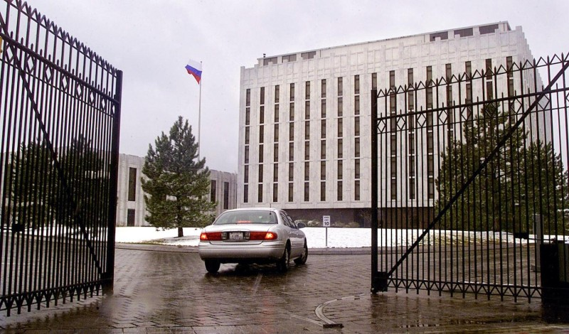 The Russian Embassy in Washington, D.C., as seen on March 5, 2001.