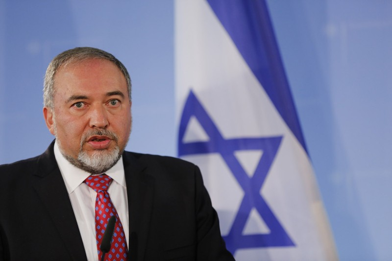 Israeli Foreign Minister Avigdor Lieberman in Berlin on June 30, 2014.