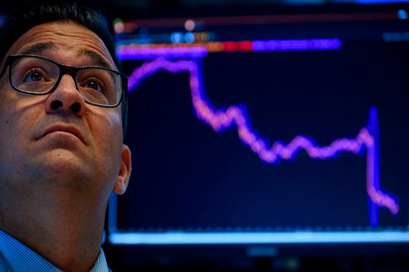 A trader works at the New York Stock Exchange in New York City on Aug. 5.