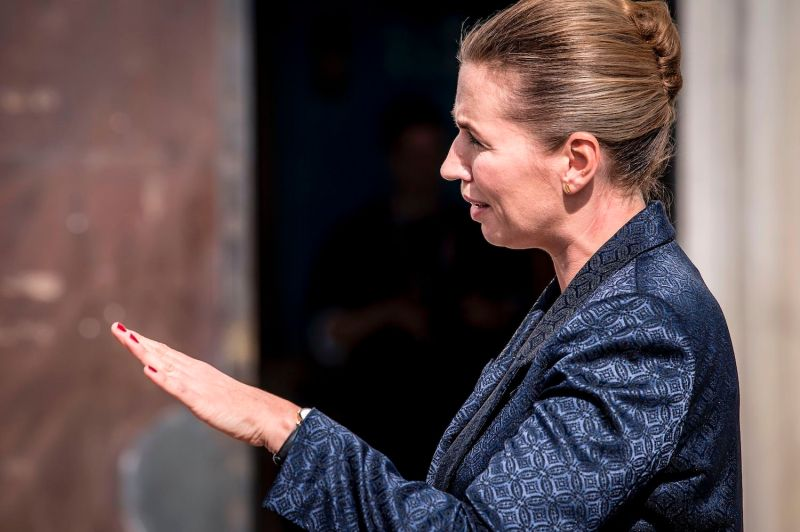 Danish Prime Minister Mette Frederiksen talks to the press after U.S. President Donald Trump canceled his state visit after her government said its territory of Greenland was not for sale in Copenhagen on Aug. 21.