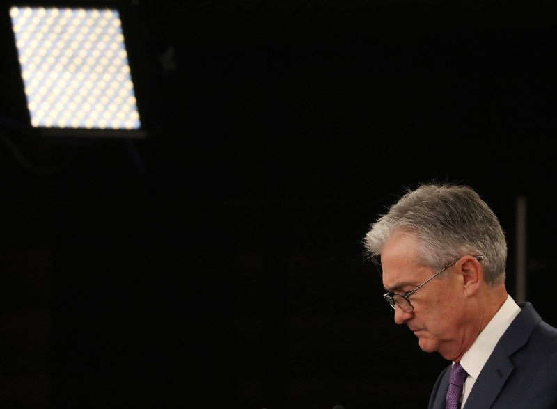 Federal Reserve Board Chairman Jerome Powell speaks during a news conference on July 31 in Washington, DC.