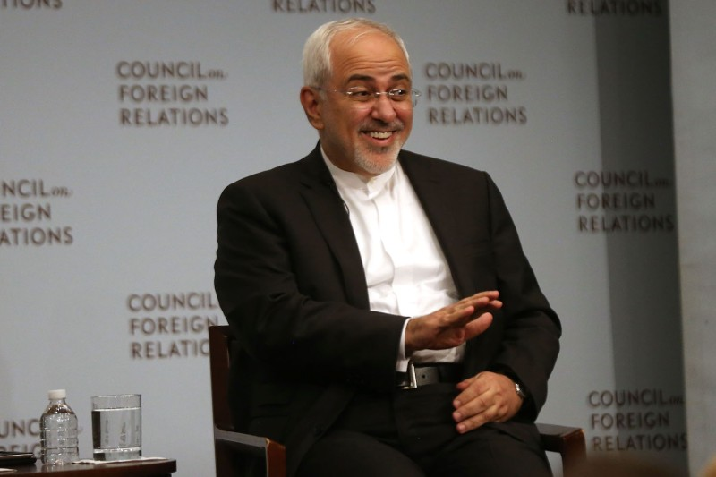 Iranian Foreign Minister Javad Zarif discusses current developments in the Middle East at the Council on Foreign Relations on July 17, 2017 in New York City.