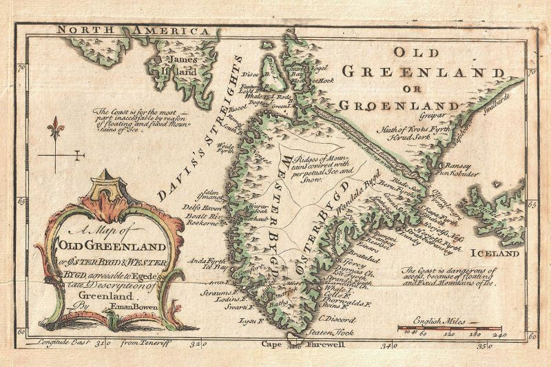 A 1747 map of Greenland.