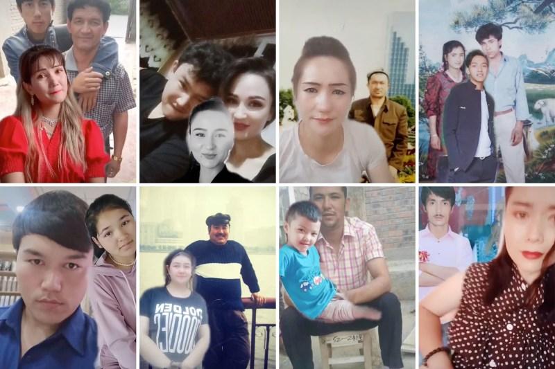 Screenshots of videos on TikTok.
