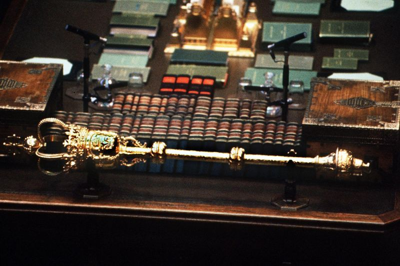 Britain's parliamentary mace is a powerful symbol of authority