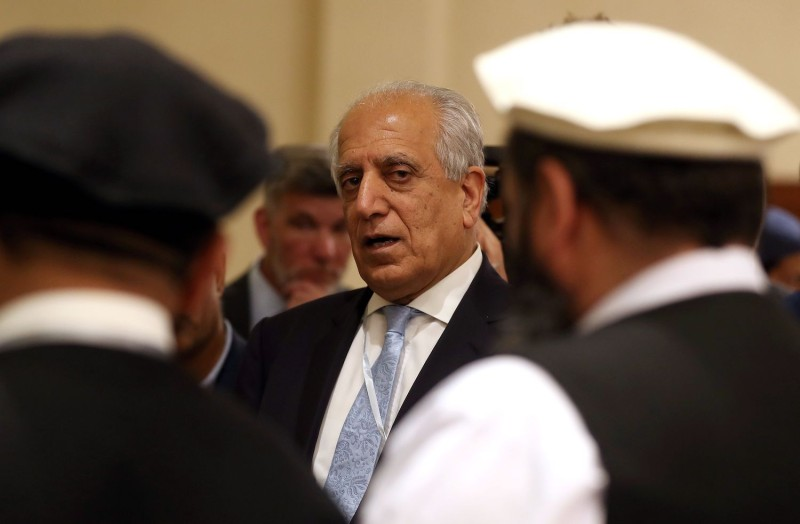 U.S. Special Representative for Afghanistan Reconciliation Zalmay Khalilzad attends the Intra-Afghan Dialogue talks in Doha, Qatar, on July 8.