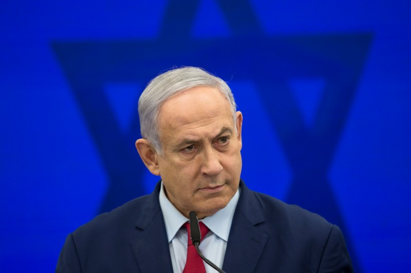 Israeli Prime Minster Benjamin Netanyahu speaks in Ramat Gan, Israel, on Sept. 10.
