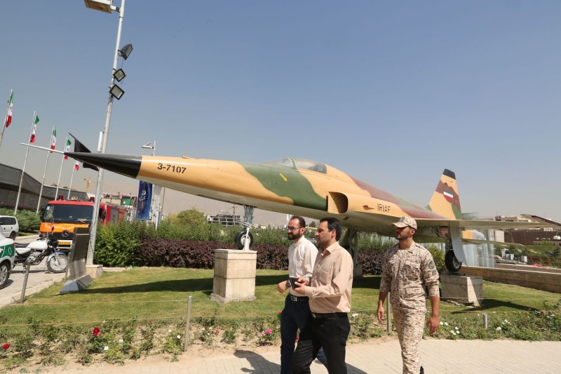 Visitors gather at Tehran's Islamic Revolution and Holy Defense museum during the unveiling of an exhibition of what Iran says are U.S. and other drones captured in its territory, in the capital Tehran on Sept. 21, 2019.