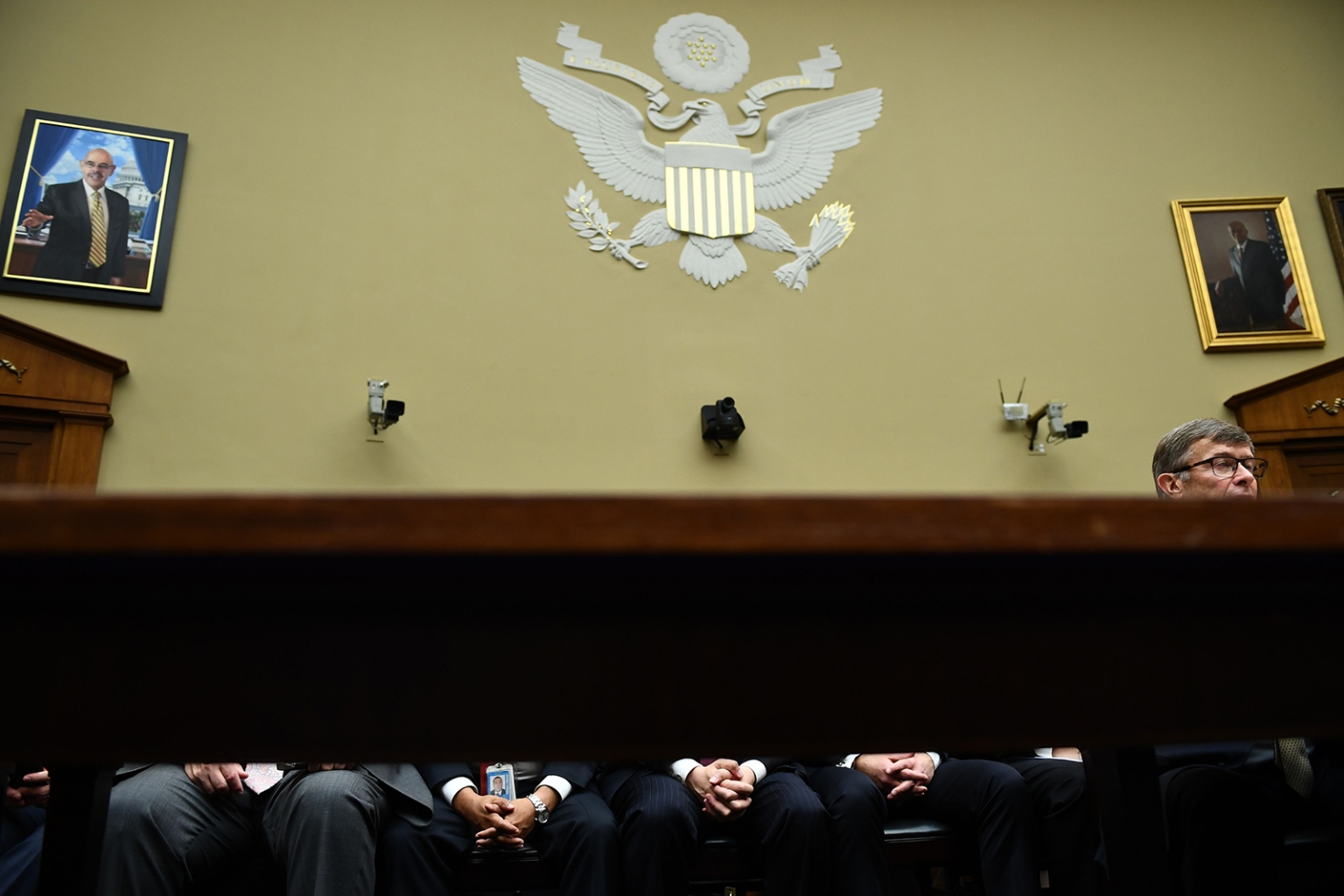 Acting Director of National Intelligence Joseph Maguire testifies about a whistleblower complaint that accuses U.S. President Donald Trump of abuse of power during a hearing in Washington on Sept. 26. BRENDAN SMIALOWSKI/AFP/Getty Images